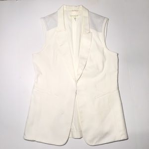 Rag and bone vest with perforated leather detail